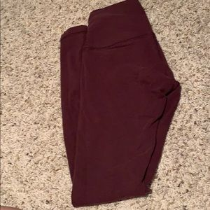 Full length cotton high rise wunder under maroon